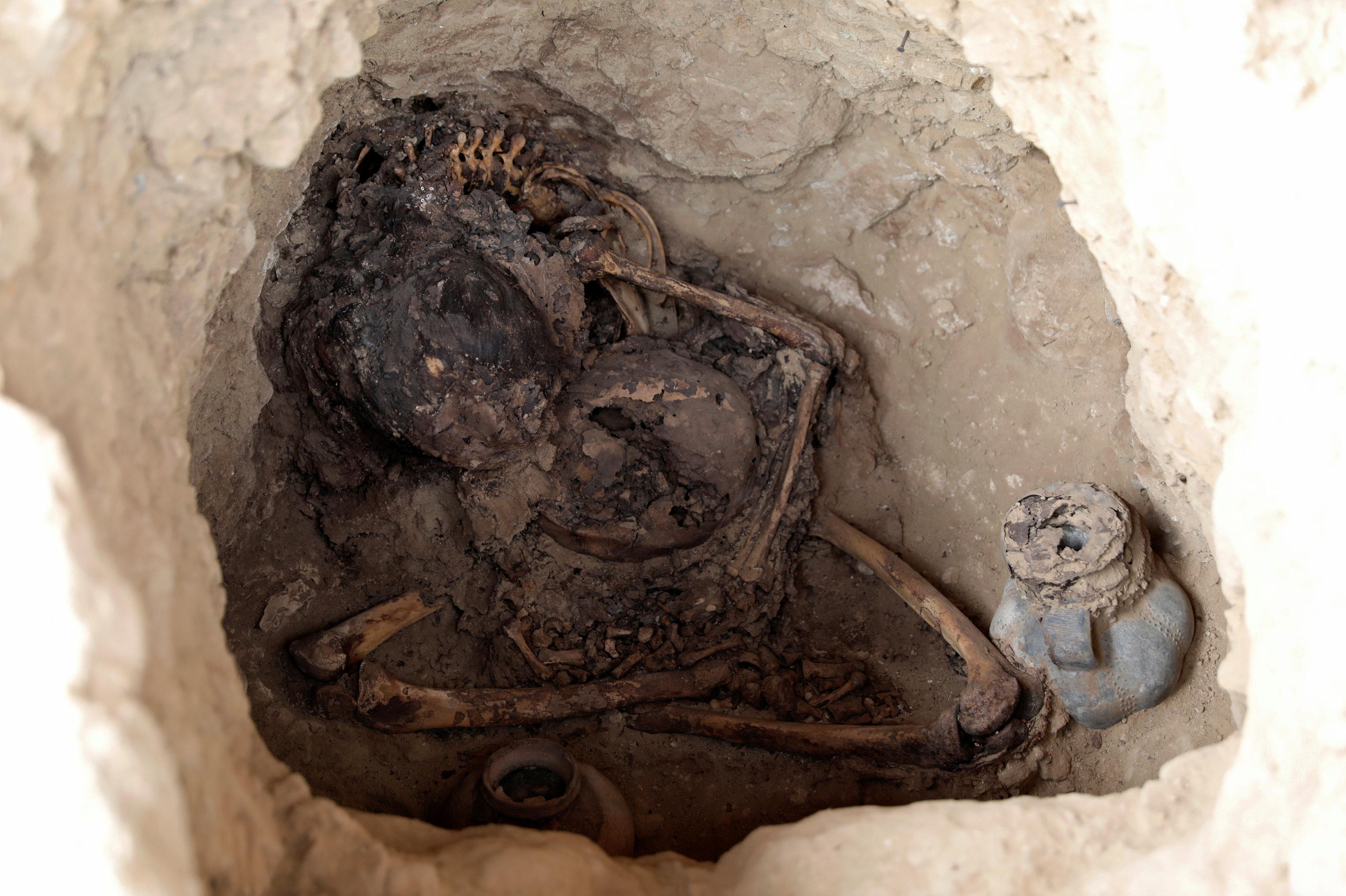 Los restos humanos hallados en Túcume