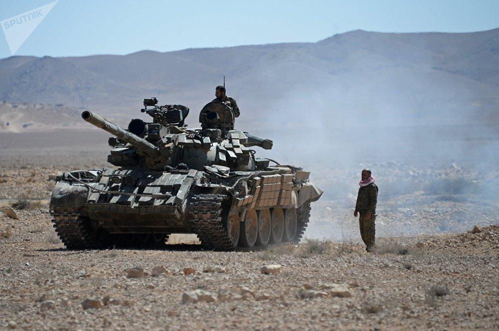 Tanque T-54 en Siria