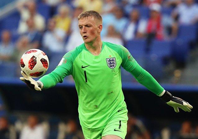 Jordan Pickford, portero de la selección de Inglaterra