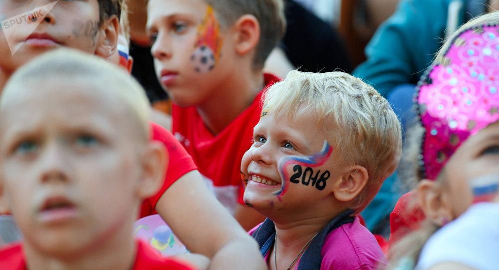 Niños rusos en el Mundial 2018
