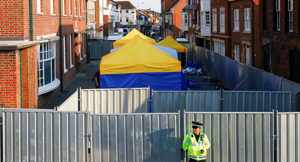Policía en Amesbury, Reino Unido