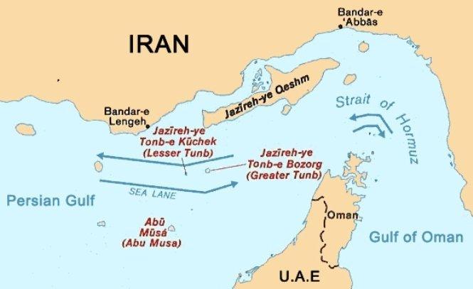 El estrecho de Ormuz y las vías de transporte marítimo