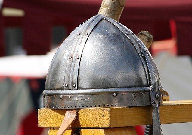 Un casco de vikingo