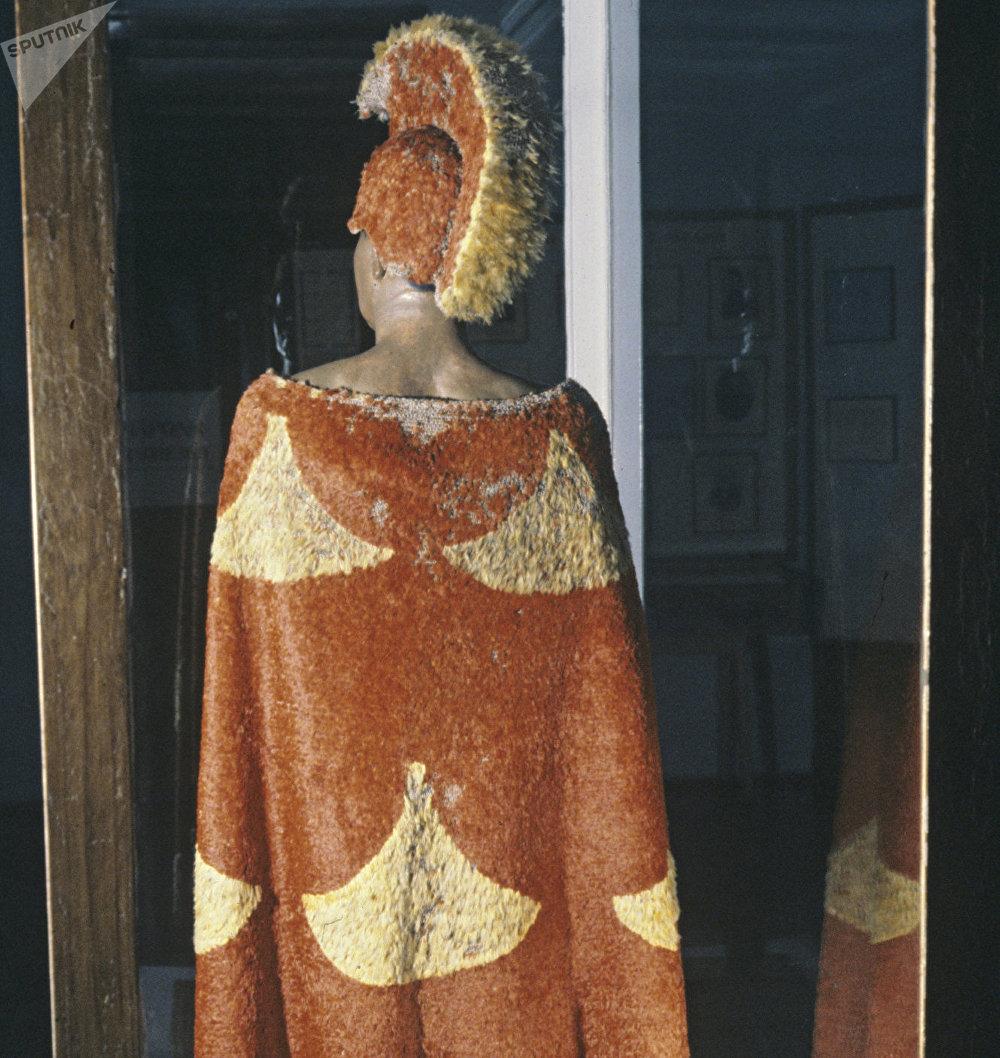El manto del primer rey de Hawái, Kamehameha I