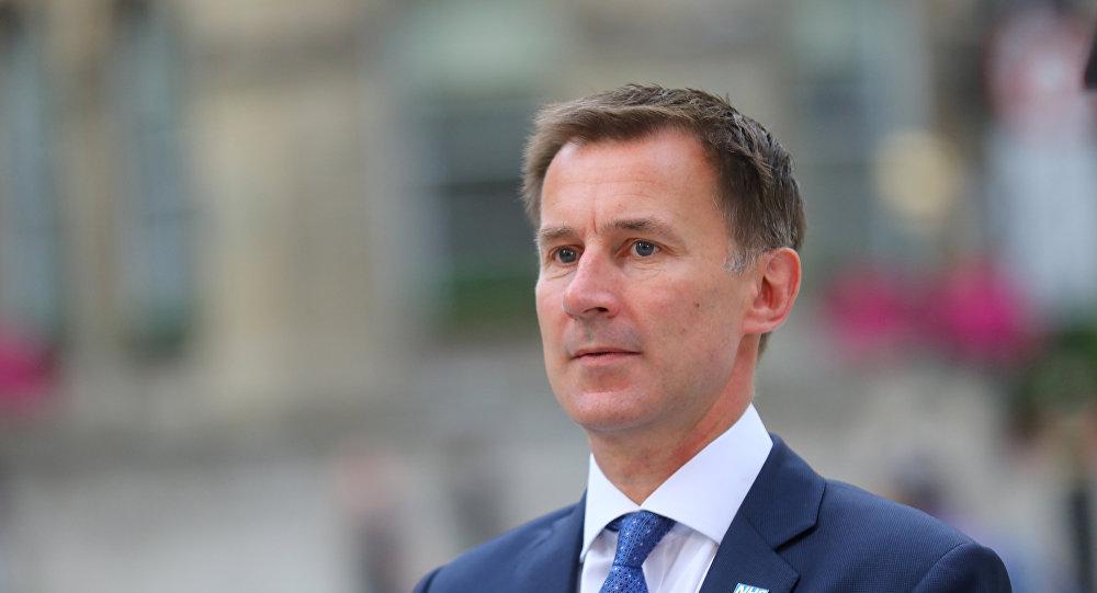 Jeremy Hunt ministro de Exteriores del Reino Unido