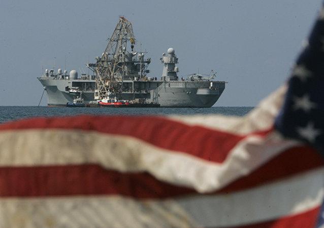 El USS Mount Whitney, buque insignia de la Sexta Flota de EEUU