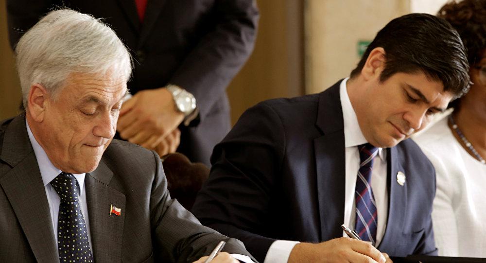 Nicaragua y Venezuela fueron temas principales en reunión de Varela y Piñera