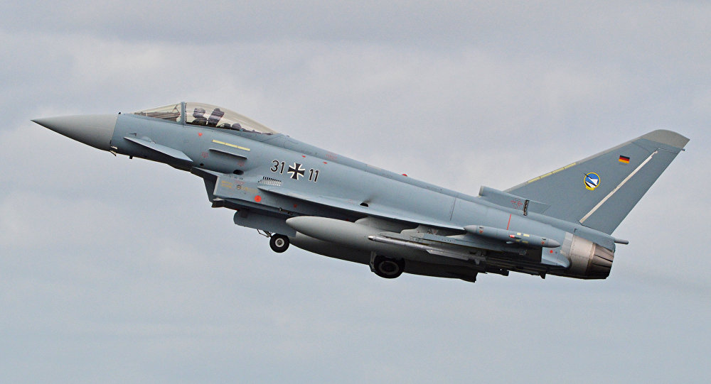 Un caza Eurofighter Typhoon de la Fuerza Aérea de Alemania, el avión que podría ser sustituido por el nuevo proyecto
