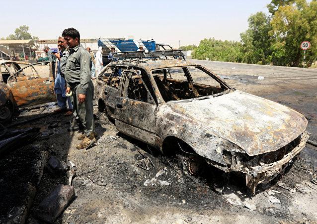 Lugar del ataque en Jalalabad, Afganistán