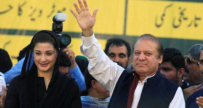Ex primer ministro de Pakistán, Nawaz Sharif, y su hija Maryam