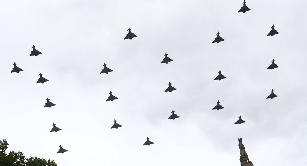 La Fuerza aérea británica festeja su aniversario