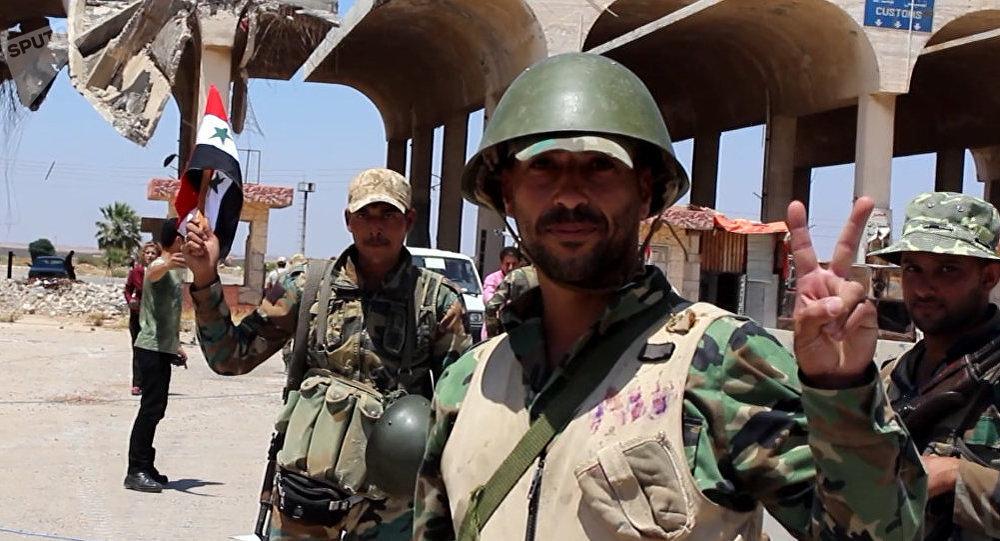 Soldados del Ejércrito sirio en Deraa