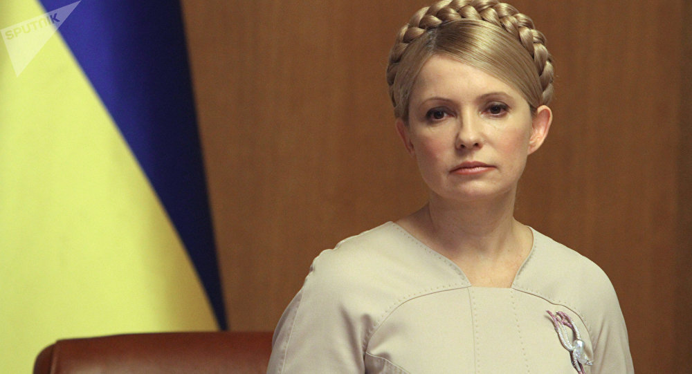 Yulia Timoshenko, ex primera ministra de Ucrania y jefa del partido Batkivschina