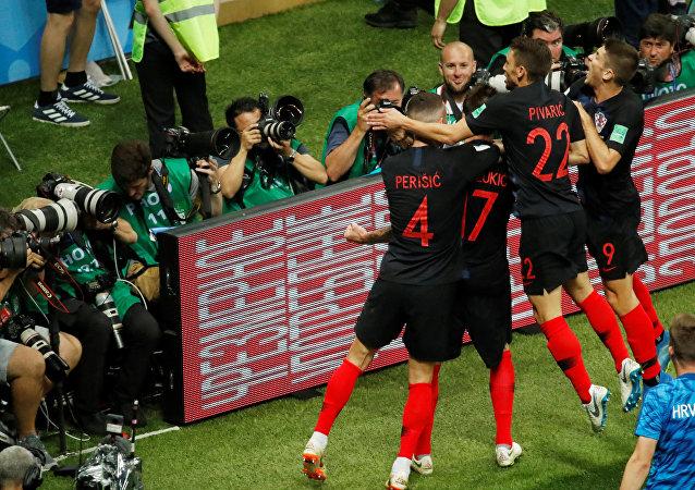Los jugadores de la selección de Croacia