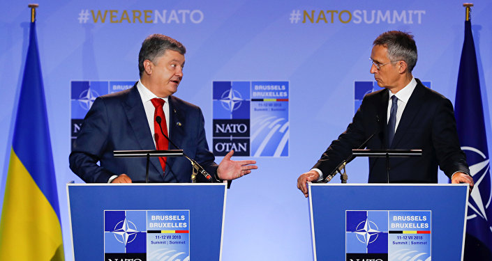 Presidente de Ucrania, Petró Poroshenko, secretario general de la OTAN, Jens Stoltenberg
