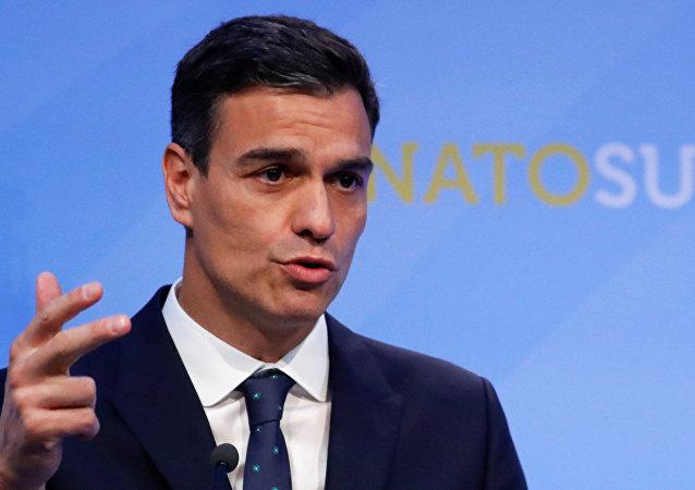 El presidente del Gobierno de España, Pedro Sánchez, en la cumbre de la OTAN