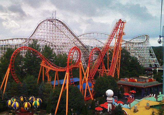 Parque de atracciones Six Flags, en Ciudad de México.