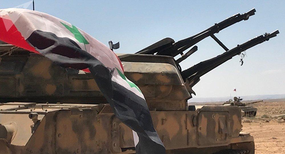 Ejército sirio en las fronteras de Jordania