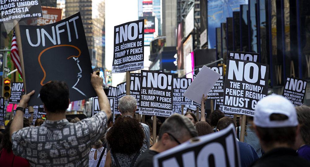 Una manifestación contra Donald Trump en Nueva York, EEUU (archivo)