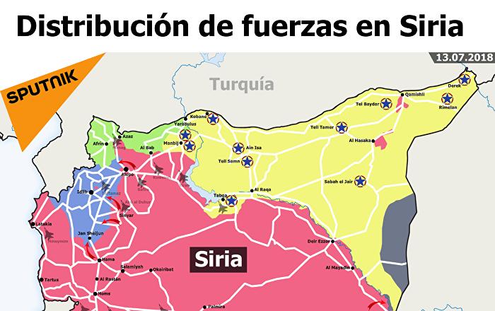 La Distribución De Fuerzas En Siria Sputnik Mundo
