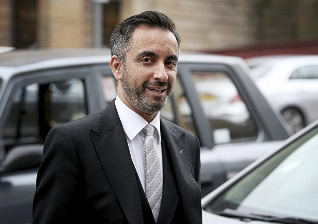 Aamer Anwar, abogado de la política independentista catalana Clara Ponsatí