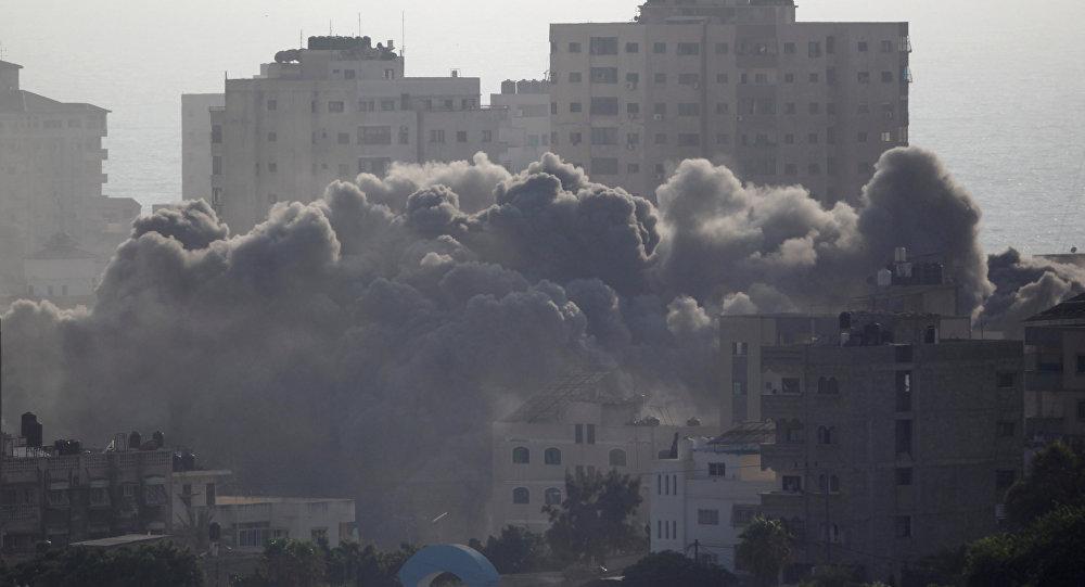 Consecuencias de los bombardeos israelíes en Gaza (archivo)