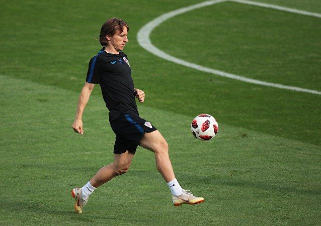 Luka Modric, centrocampista de la selección croata