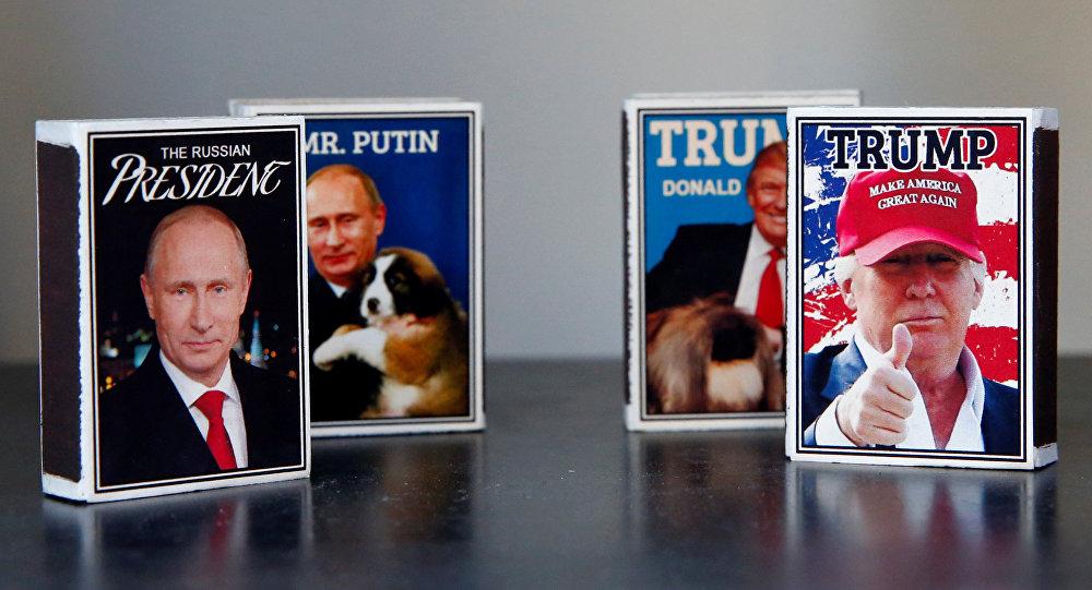 Retratos del presidente ruso, Vladímir Putin, y del presidente de EEUU, Donald Trump