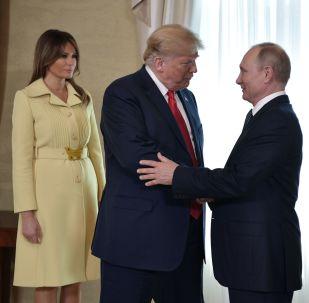 Vladimir Putin, Melania y Donald Trump