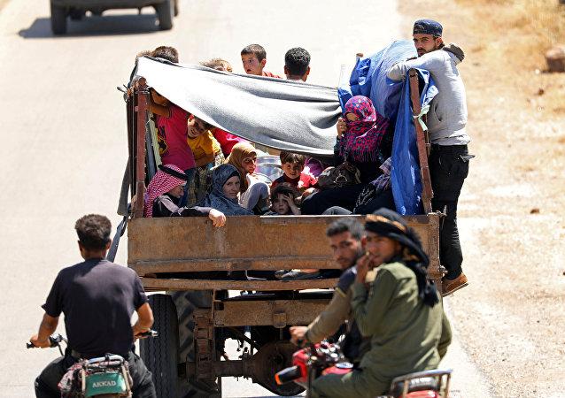 Los desplazados en Siria