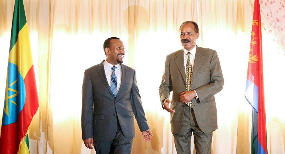 El presidente de Eritrea, Isaías Afewerki, y el primer ministro de Etiopía, Abiy Ahmed