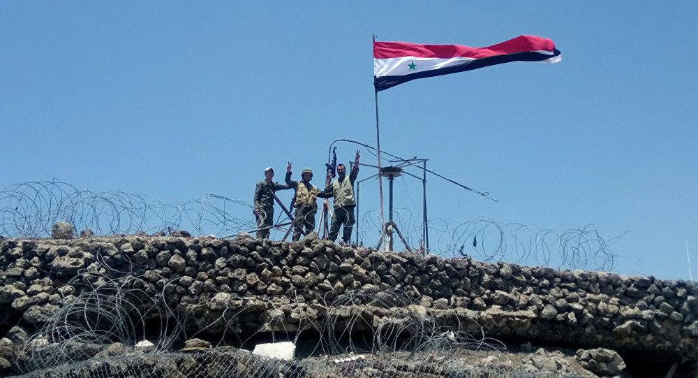 Ejército sirio en el area de Quneitra