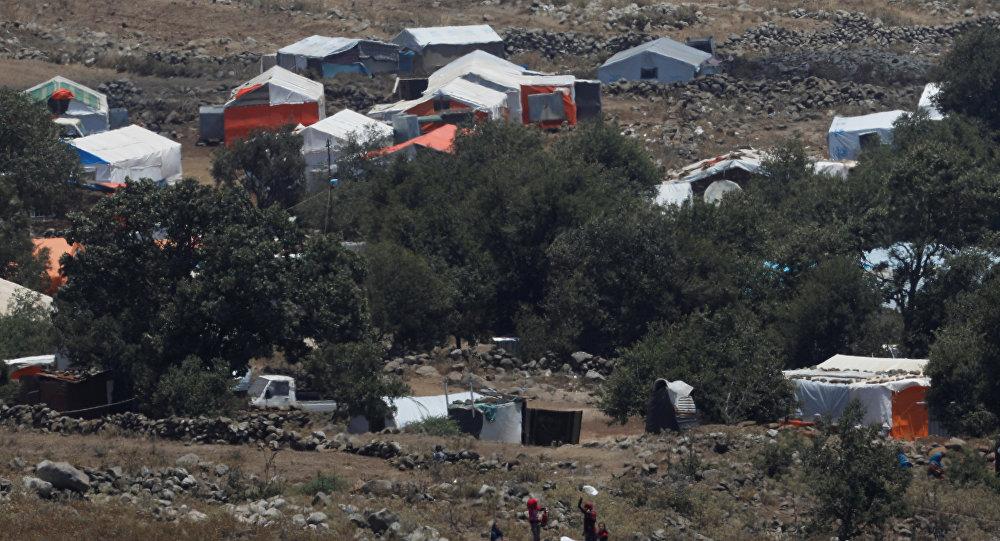Campo de refugiados en Siria