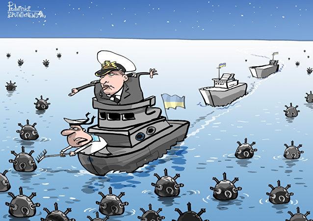Ucrania planea plantar minas en el mar de Azov