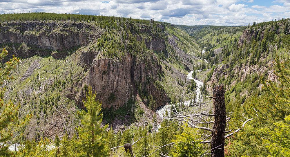 El parque nacional de Yellowstone, en Estados Unidos