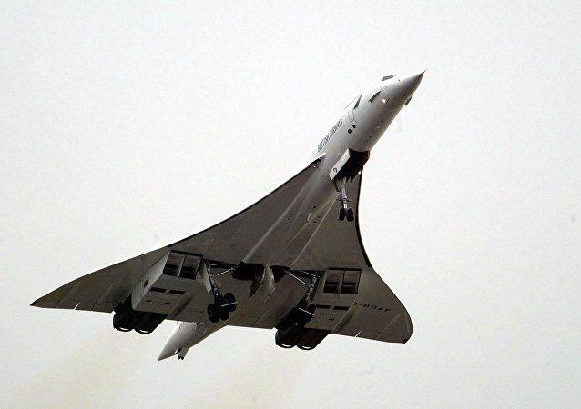 Un avión supersónico Concorde (archivo)