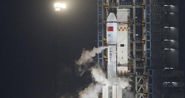 El cohete chino Larga Marcha 7 (archivo)