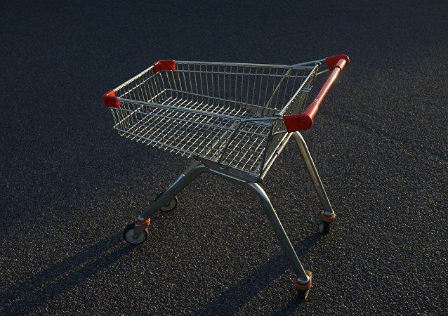 Un carro de supermercado