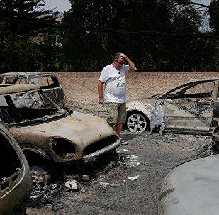Las consecuencias del incendio en Grecia
