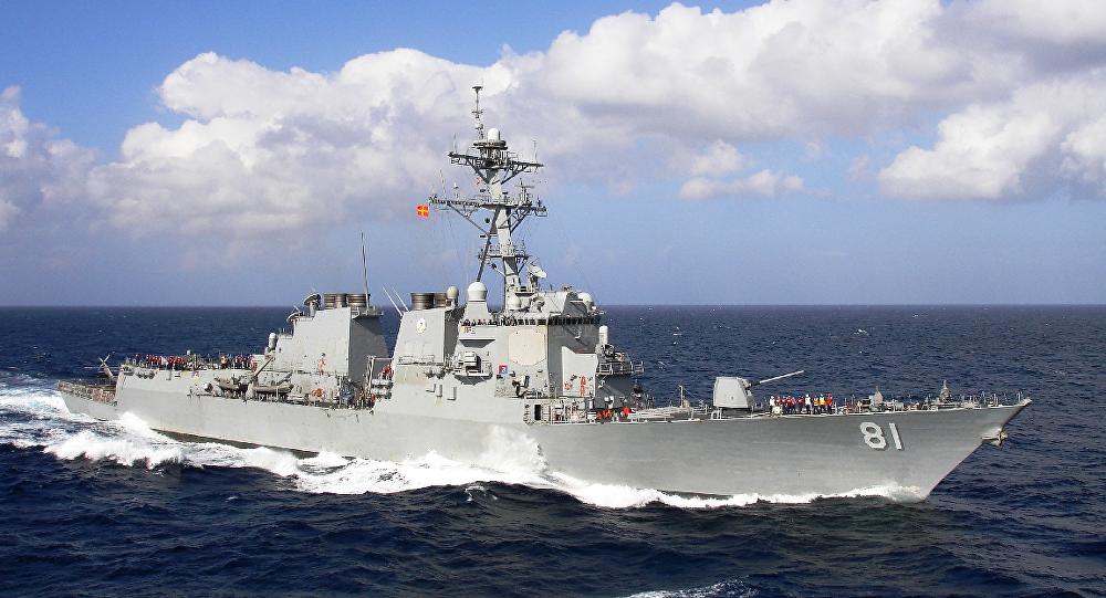 Destructor estadounidense USS Winston S. Churchill (imagen referencial)