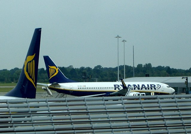 Un avión de Ryanair (imagen referencial)