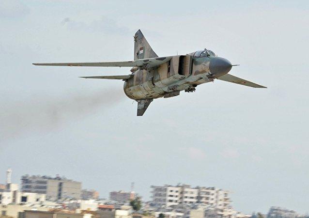 Un MiG-23 sirio