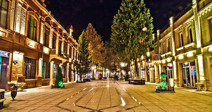 El centro de la segunda ciudad más grande de Azerbaiyán, Ganyá