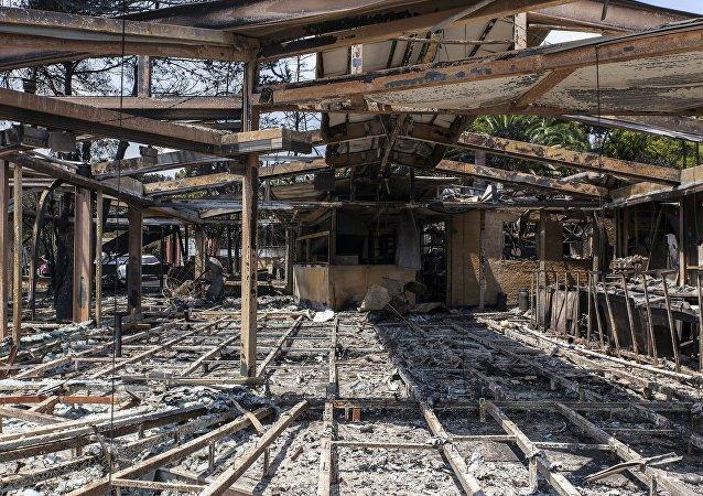 Consecuencias del incendio en Grecia