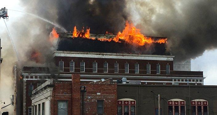 Un incendio, imagen referencial