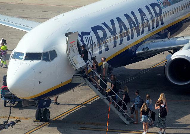 Un avión de compañía Ryanair