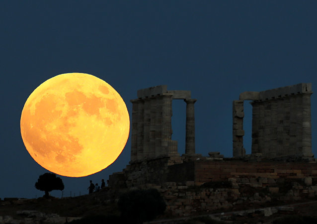 Eclipse lunar visto desde Grecia