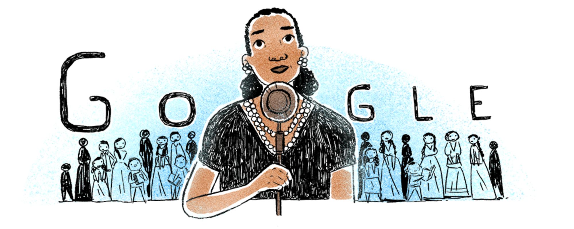 Google Doodle con María Rebecca Latigo de Hernández