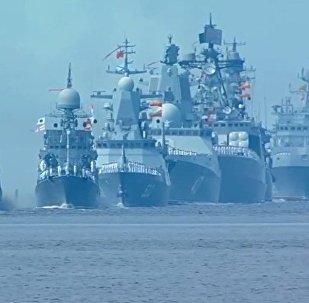 Rusia celebra el Día de la Armada con un gran desfile de buques militares