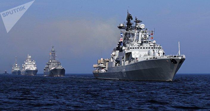 Desfile naval en Rusia (imagen referencial)